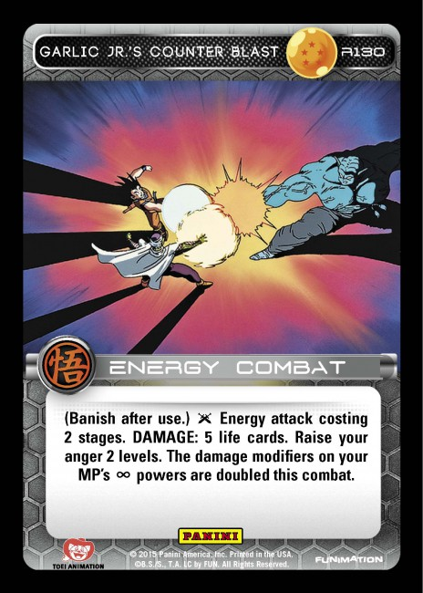 Card Of The Week Welcome To The Dead Zone Panini Games Sometimes, however, a character can hide their power level or transform in order to garlic jr is another character that made a very memorable appearance in dragonball z. the dead zone