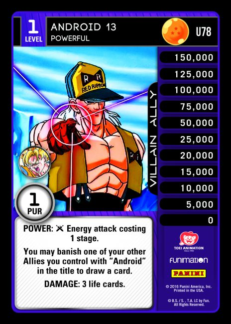 Vengeance Dragon Ball Z DBZ TCG Panini UR142 Unleashed Ultra Rare