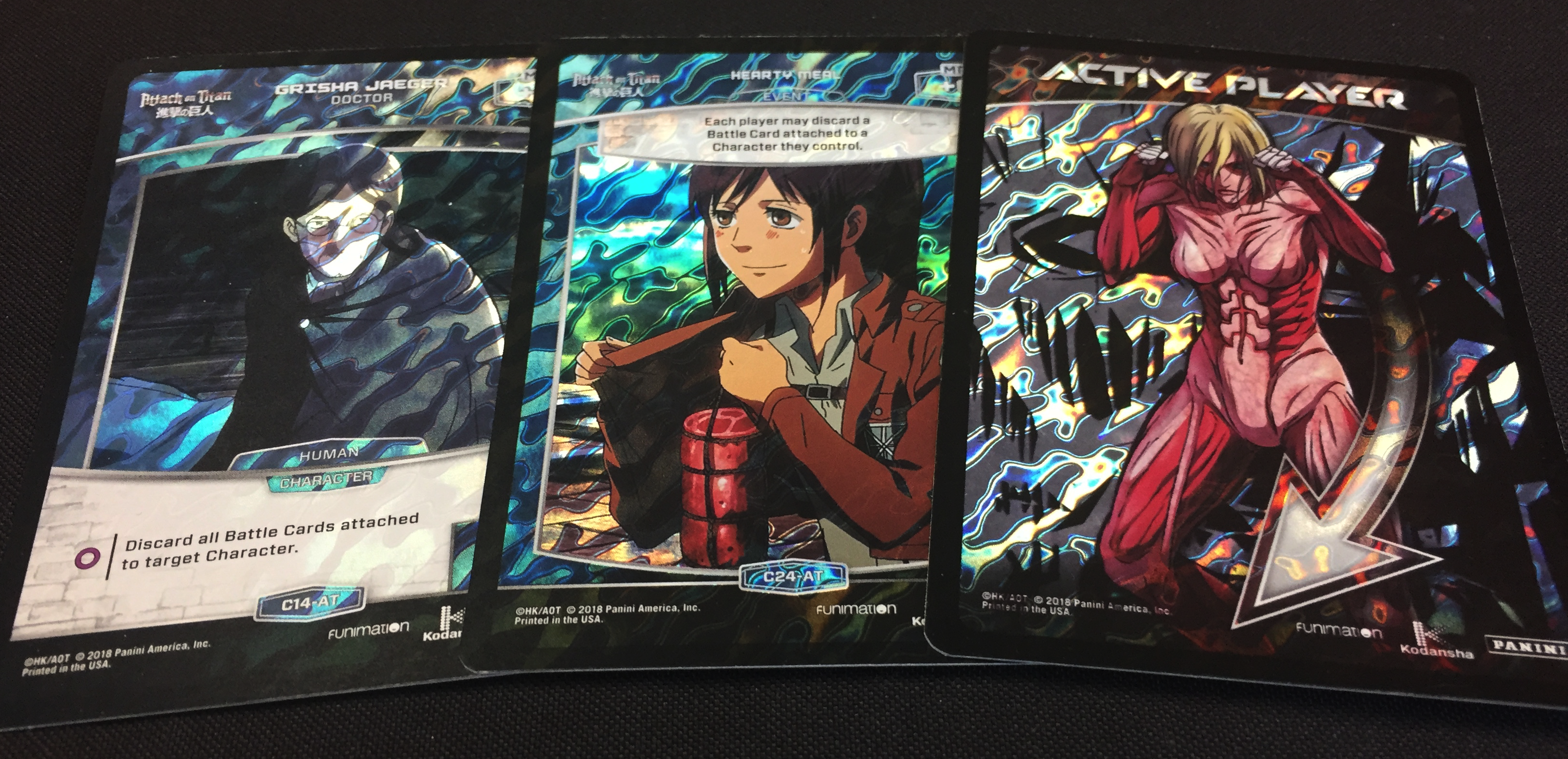 Aot Previews Foil Pattern Revealed Panini Games